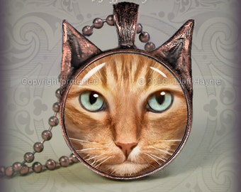 OTB18 Orange Tabby Cat  pendant
