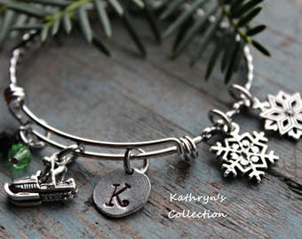 Snowmobile Bracelet, Snowmobile Jewelry, Snowmobile Gift, Snowmobiling, Winter Sports, Snow Machine