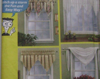 OUT of PRINT Simplicity Pattern 7164 Window Treatments