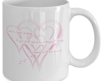 Hearts and love mug