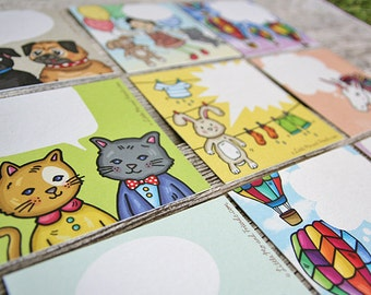 Bonanza Conversation Note Cards, Set of 9 mix cards and envelopes, full colour, recycled