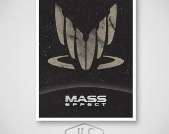 Mass Effect Video Game Poster, Spectre Print