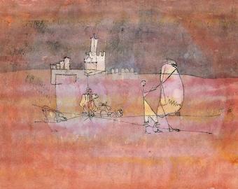 Paul Klee: Episode Before an Arab Town. Fine Art Print/Poster (4980)