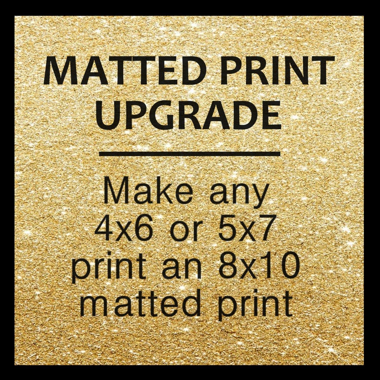ADD: Schwarz oder weiß Matte Upgrade auf 4 x 6 oder 5 x 7