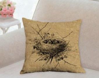 Baby Birds Nest Designer Pillow