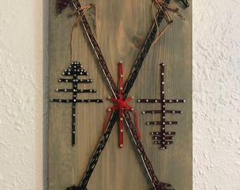 Nail and String Crossed Arrows