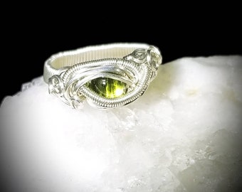 Love Green Peridot Ring