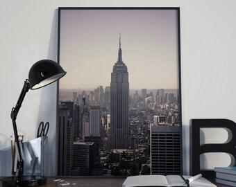 Empire State Building Photograph, New York Photography, Manhattan Fine Art, NYC Skyline, Empire State, NY Photo