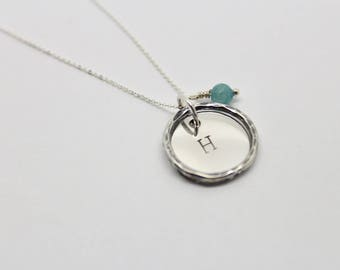 Personalised necklace, initial necklace, mothers day gift, stamped necklace, name necklace, customised necklace, custom pendant