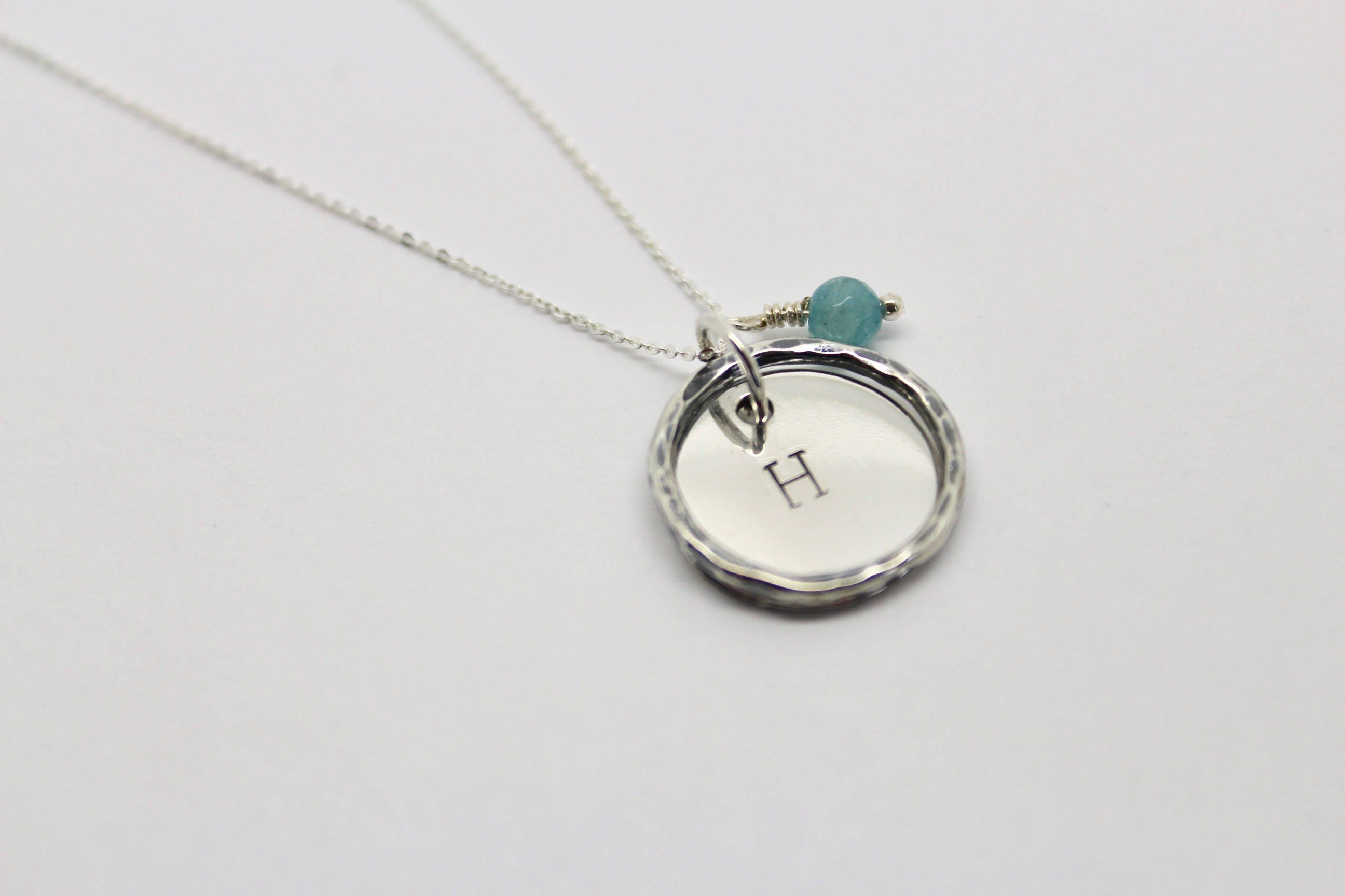 products jewellery personalised necklace with handmade initial charm made statement customised teabag pendant