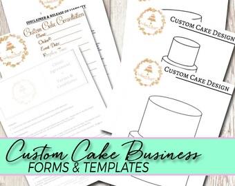 Custom Cake Business Forms, Templates, Consultation, and Contract Set-Rolkem,Molds,Fondant,Dust,Sugar Flower,Gumpaste,Cake Decorating