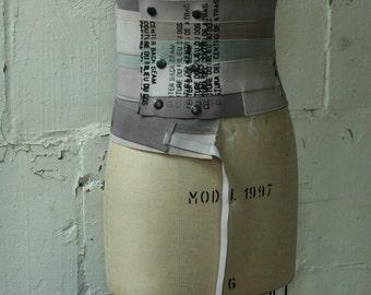 artLAB industrial elastic hand dyed waist wrap text gone arwy