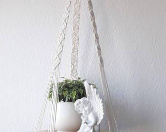 Macrame plant hanger-100% cotton rope -37'' (95 cm) long-macrame shelf-candle holder- pot hanger or macrame hanging table
