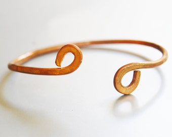 Unisex simple copper bracelet