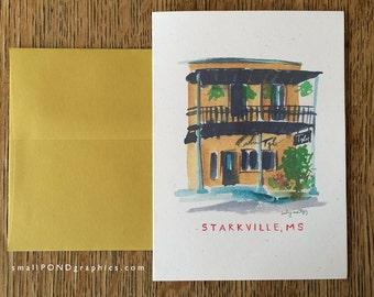 Restaurant Tyler Notecard - Downtown Starkville Mississippi - Single or Assorted Boxed Set