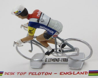 Cycling Gift Greg Lemond Tour de France - La Vie Claire 1986 - Individually Handcrafted French Peloton Cycling Figure