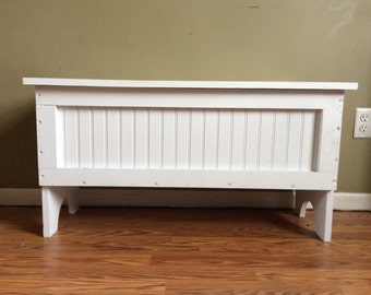 Primitive Wood Storage Bench