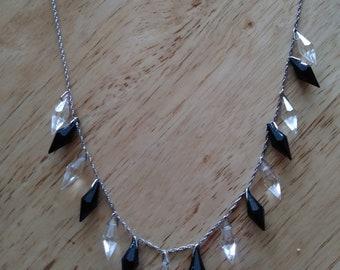 vintage garnet crystal necklace
