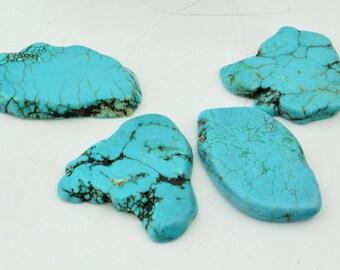 10pc Chunky Turquoise Slab Loose Beads