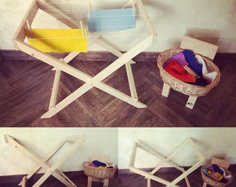 Baby clothesline for role Playing-Montessori/Waldorf inspired