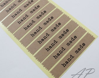 Set of 32pc Hand Made Seal Sticker in Black Type in Kraft Paper..2 Sheets in Pack