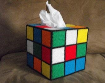 Rubiks Cube Tissue Box