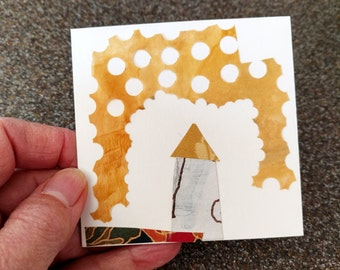 Tiny Square Collage / Daily Drawing for January 24, 2013