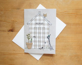 Garden Shed Large Greetings Card