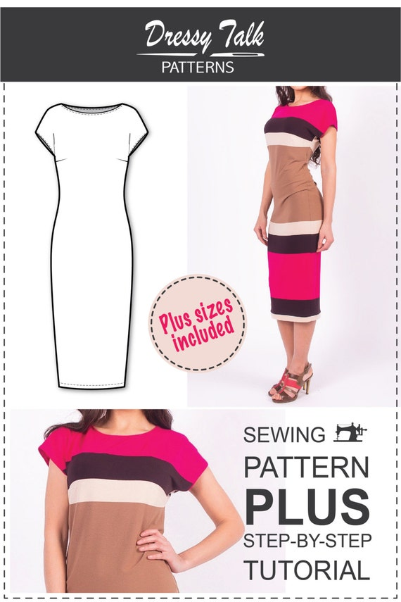 Dress Patterns Simple Dress Pattern T-shirt Dress Pattern