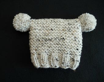BABY KNIT HAT HAS TASSELS 0/3 MONTHS BABY PHOTO PROP