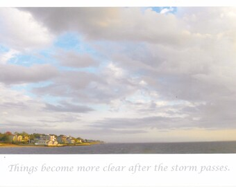 After the storm LARGE blank card with quote