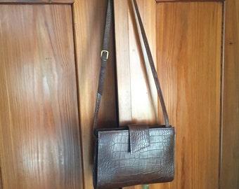 Vintage Liz Claiborne Brown Leather Shoulder Bag