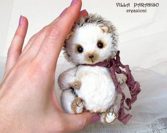 Hedgehog Berry, OOAK Artist teddy toy , stuffed animal soft toy, plushies, collectible