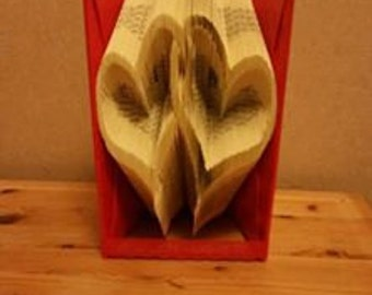 Linked Hearts Book Folding Pattern