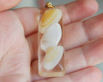 SeaShell Necklace , Resin Necklace , Beach Jewelry , Resin Jewelry