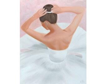 Ballerina Painting, 16 x 20, Oil Painting, Original Art, Ballet Painting, Dance Painting, Prima Ballerina Art, Woman Painting, Dancer Art