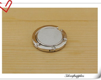 42mm ( 1 5/8 inch ) Blank  purse hook purse hanger hardware  frame Nickel AC54