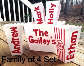 Personalized Popcorn Bowl Family Individual and Family Sets!~