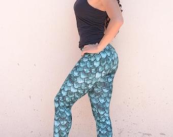 Dragon Scale Leggings-Women's Leggings, Yoga Leggings, Workout Leggings