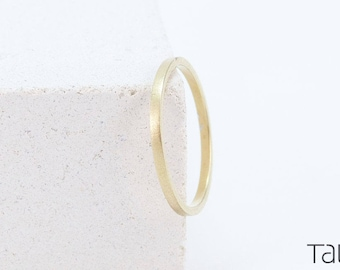 Gold Matte Ring, 14k Gold Ring, Thin Gold Ring, Dainty Jewelry, Wedding Ring, Simple Gold Ring, Matte Wedding Band, Stackable Ring