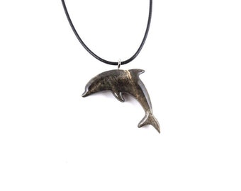 Dolphin pendant etsy carved dolphin pendant dolphin necklace dolphin jewelry wood dolphin necklace wooden dolphin pendant nautical jewelry wood jewelry aloadofball Gallery