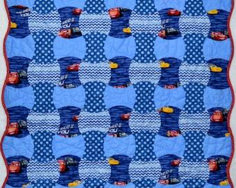 Pre-Cut Boy Crib Quilt Kit, Disney Car, Kimberbell & USA Solids Quilt Shop Fabrics Precut Precision Apple Core Shapes.  Get Sewing Faster!