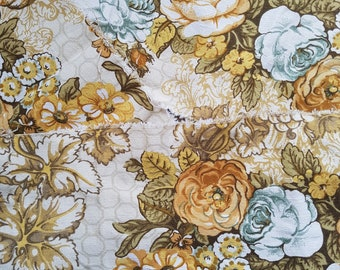 3 pieces of vintage floral fabric