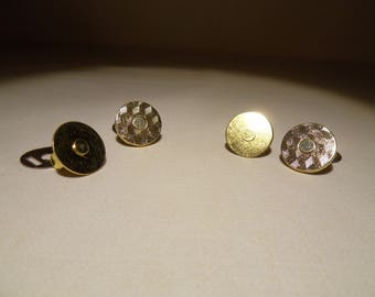 Set of 2 magnetic snaps, gilded with 18 mm