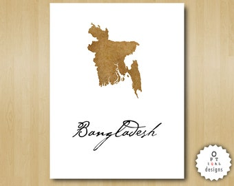 Bangladesh Wall Art - Print Your Home Country Map Art - Printable INSTANT DOWNLOAD