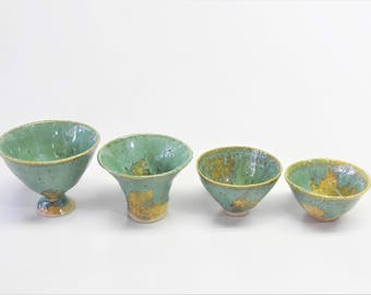 Ceramic Cup, Sake Cup, Handmade Cup, Small Cup, Japanese Pottery W146-W149