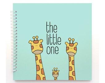 GIRAFFES mint cover - Modern Baby Book, Baby Memory Book, Baby Shower Gift, Baby Journal, Baby Shower, Baby Album, Keepsake