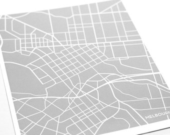 Melbourne Map Art City Print / Australia Poster Digital Print / 8x10 / Personalized colors