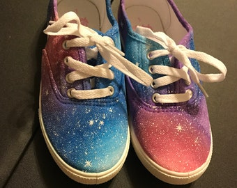 Custom Painted Galaxy Shoes