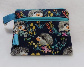 Fabric Double Zipper Pouch Pattern, Coin and Cash Purse Pattern